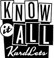 KNOW IT ALL KARDLETS