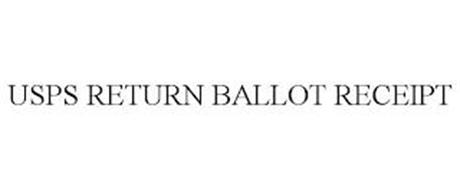 USPS RETURN BALLOT RECEIPT