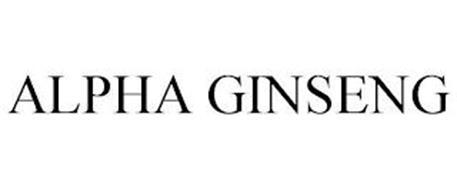 ALPHA GINSENG