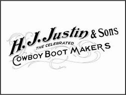 H.J. JUSTIN & SONS THE CELEBRATED COWBOY BOOT MAKERS