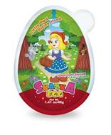 LITTLE RED RIDING HOOD CHOCOLATE SPREAD+TOY+GAME SKAZKA EGG NET WT. 1.41 OZ/40G
