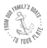 FROM OUR FAMILY'S BOATS . . . TO YOUR PLATE . . .