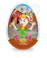 PINOKIO CHOCOLATE SPREAD + TOY + GAME SKAZKA EGG NET WT. 1.41 OZ/40G