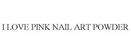 I LOVE PINK NAIL ART POWDER