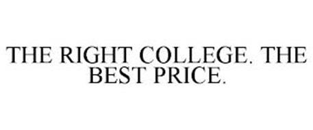 THE RIGHT COLLEGE. THE BEST PRICE.