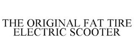 THE ORIGINAL FAT TIRE ELECTRIC SCOOTER