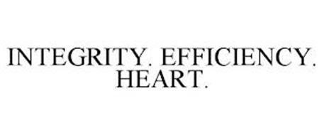 INTEGRITY. EFFICIENCY. HEART.