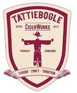 TATTIEBOGLE CIDERWORKS ESTD 2017 FAMILY OWNED FLAVOR CRAFT TRADITION