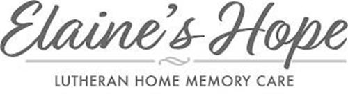 ELAINE'S HOPE LUTHERAN HOME MEMORY CARE