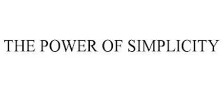 THE POWER OF SIMPLICITY