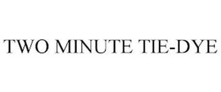 TWO MINUTE TIE-DYE