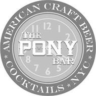 THE PONY BAR AMERICAN CRAFT BEER COCKTAILS NYC
