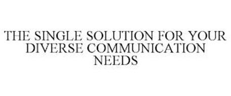 THE SINGLE SOLUTION FOR YOUR DIVERSE COMMUNICATION NEEDS