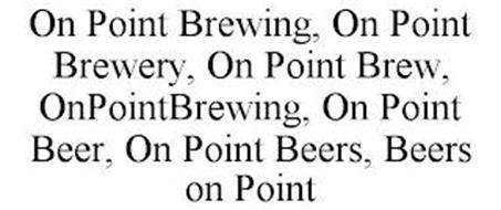 ON POINT BREWING, ON POINT BREWERY, ON POINT BREW, ONPOINTBREWING, ON POINT BEER, ON POINT BEERS, BEERS ON POINT