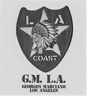 L A COAST G.M. L.A. GEORGES MARCIANO LOS ANGELES
