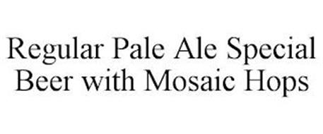 REGULAR PALE ALE SPECIAL BEER WITH MOSAIC HOPS