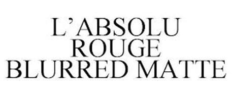 L'ABSOLU ROUGE BLURRED MATTE