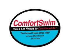 COMFORTSWIM POOL & SPA HEATERS BY CONDITIONED AIR THE COMFORT PEOPLE SINCE 1962 WWW.CONDITIONEDAIR.COM 239-643-2445
