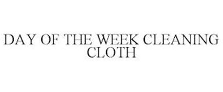 DAY OF THE WEEK CLEANING CLOTH