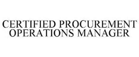 CERTIFIED PROCUREMENT OPERATIONS MANAGER