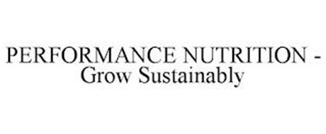 PERFORMANCE NUTRITION - GROW SUSTAINABLY
