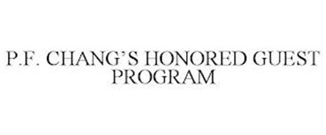 P.F. CHANG'S HONORED GUEST PROGRAM