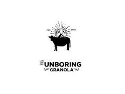 EST. 2019 THE UNBORING GRANOLA