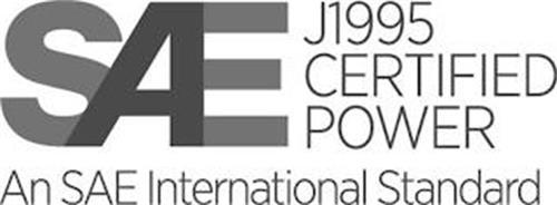 SAE J1995 CERTIFIED POWER AN SAE INTERNATIONAL STANDARD