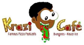 KRAZI CAFÉ FAMOUS PIZZA PRETZELS BURGERS KRAZI ICE