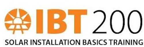 IBT 200 SOLAR INSTALLATION BASICS TRAINING