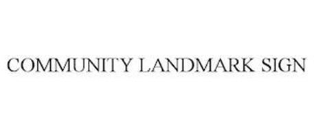 COMMUNITY LANDMARK SIGN