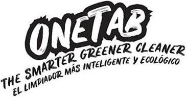 ONETAB THE SMARTER GREENER CLEANER EL LIMPIADOR MÁS INTELIGENTE Y ECOLÓGICO