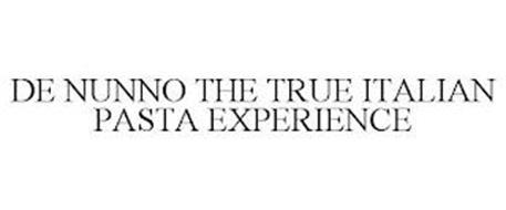 DE NUNNO THE TRUE ITALIAN PASTA EXPERIENCE