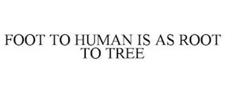 FOOT TO HUMAN IS AS ROOT TO TREE
