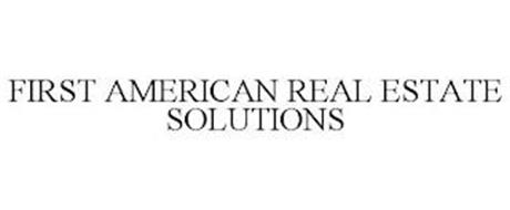 FIRST AMERICAN REAL ESTATE SOLUTIONS