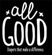 ALL GOOD DIAPERS THAT MAKE A DIFFERENCE.
