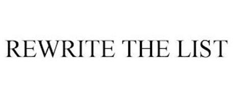 REWRITE THE LIST