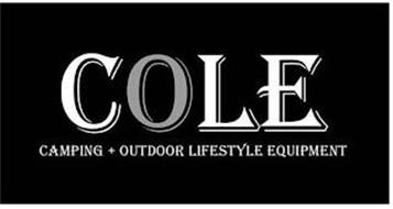COLE CAMPING OUTDOOR LIFESTYLE EQUIPMENT