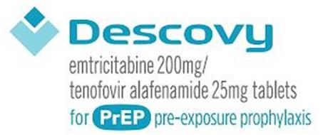 DESCOVY EMTRICITABINE 200 MG / TENOFOVIR ALAFENAMIDE 25MG TABLETS FOR PREP PRE-EXPOSURE PROPHYLAXIS