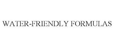WATER-FRIENDLY FORMULAS