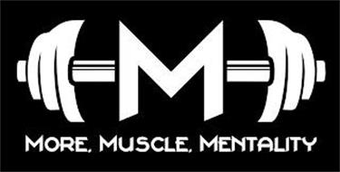 M MORE. MUSCLE. MENTALITY