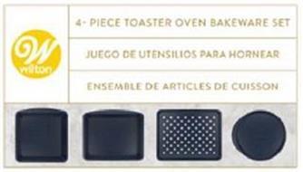W WILTON 4 - PIECE TOASTER OVEN BAKEWARE SET JUEGO DE UTENSILIOS PARA HORNEAR ENSEMBLE DE ARTICLES DE CUISSON