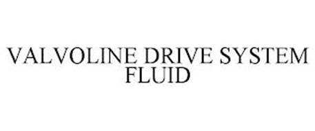 VALVOLINE DRIVE SYSTEM FLUID