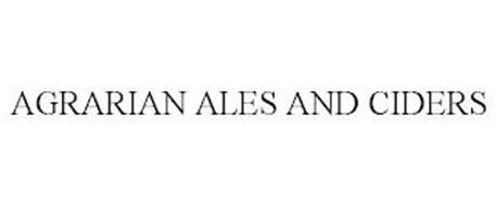 AGRARIAN ALE AND CIDER