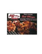 AUNT BESSIE'S EST. 1958 FINEST QUALITY MEATS FULLY COOKED HOT WINGS CHICKEN WING SEGMENTS IN BUFFALO STYLE SAUCE