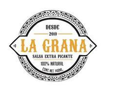 LA GRANA SALSA EXTRA PICANTE DESDE 2010 100% NATURAL CONT. NET. 148ML.