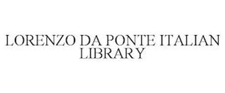 LORENZO DA PONTE ITALIAN LIBRARY