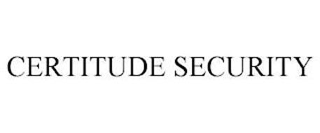 CERTITUDE SECURITY
