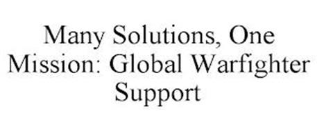 MANY SOLUTIONS, ONE MISSION: GLOBAL WARFIGHTER SUPPORT