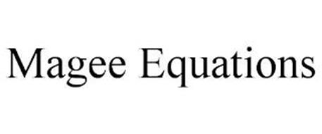 MAGEE EQUATIONS